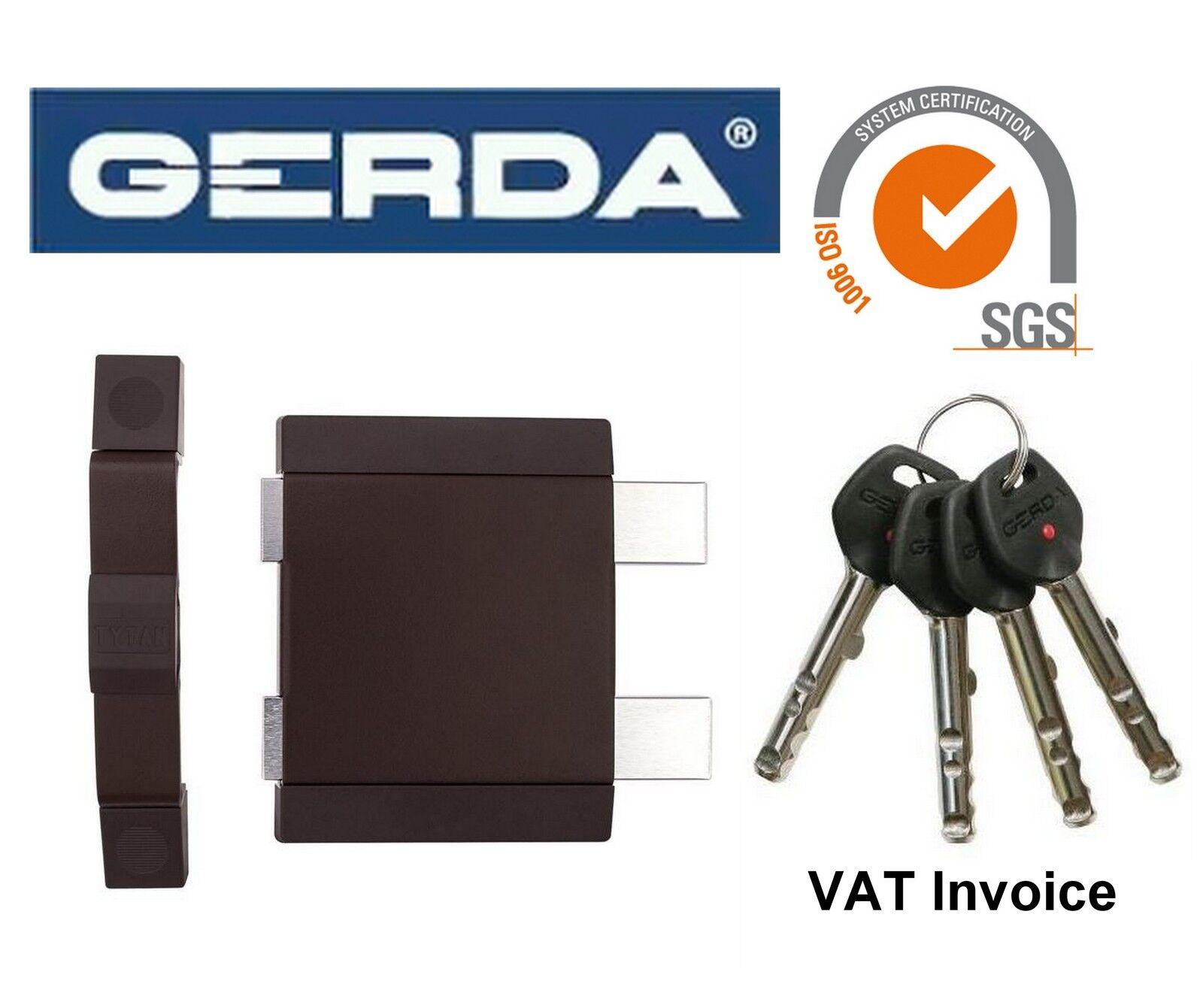 Gerda alta calidad de superficie montada Cerradura de puerta bloqueo almacén Oficina Tienda Z2