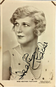 MISS-HEATHER-THATCHER-ACTRESS-SIGNED-REAL-PHOTO-POSTCARD-RPPC-UNPOSTED