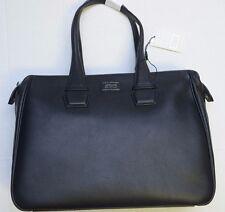 NWT Armani Collezioni $975 Men's Black Business Tote Travel Casual Leather Bag