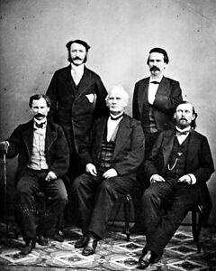 New-8x10-Civil-War-Photo-CSA-Confederate-Generals-in-Mexico-after-the-War-1865