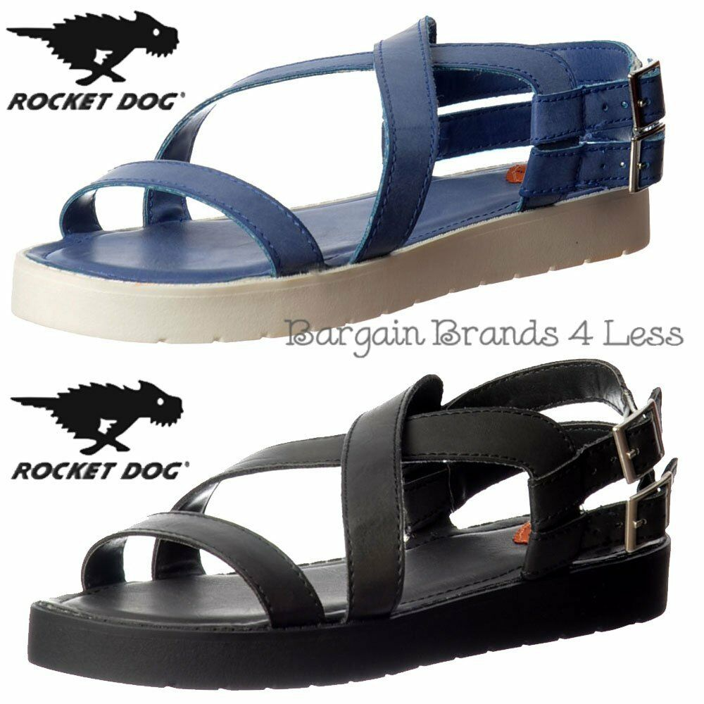 Womens Rocket Dog Tecla Gladiator Shoe Flat Summer Sandal Casual Shoe Gladiator Blue Black Size e70711