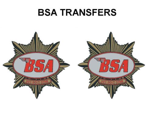 BSA Gold Star 500 Tank Transfer Decal 1949 onwards