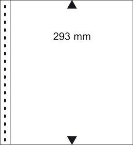 1 Lindner 09 Omnia Stock Sheets White 2 X 1 Stripes Pocket 245x293 mm