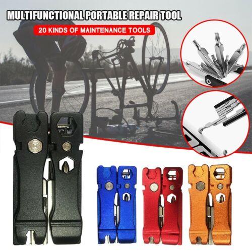 20 in 1 Hex Key Screwdriver Wrench Bicycle Bike Tools Multi Repair Tool Kit Set