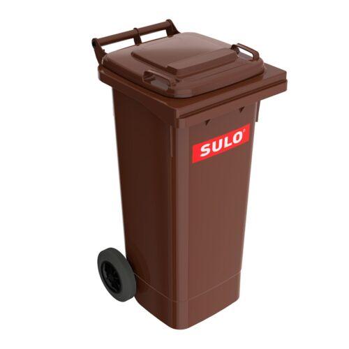 2 Stück Original SULO 80 Liter BRAUN Abfalltonne Mülleimer Mülltonne Box Kübel