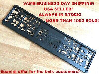 European License Plate Tag Mounting Holder Adapter Bumper Frame Bracket Car Auto