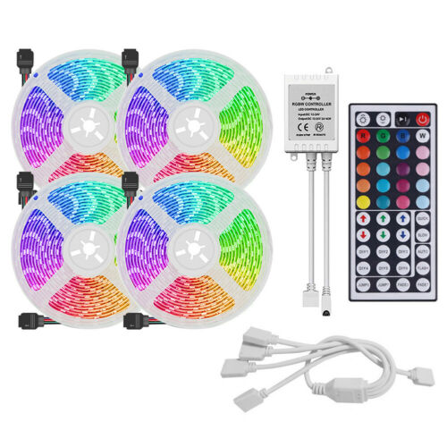 SMD 3528 LED Strip Light RGB Flexible Tape Ribbon Lamp with 44Key Remote Control