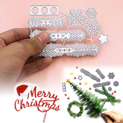 Metal Christmas Tree Wreath Snowflake Cutting Dies Stencil Scrapbook Paper Cards