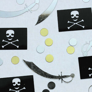 PIRATE-PARTY-SUPPLIES-SWORD-amp-FLAG-CONFETTI-FOR-TABLE-DECORATIONS-1oz-28g