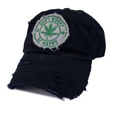 8b4bd34a22c Cannabis Emblem Pot Weed Leaf Ball Vintage Cap Baseball 420 Hat 100% Cotton  1sz