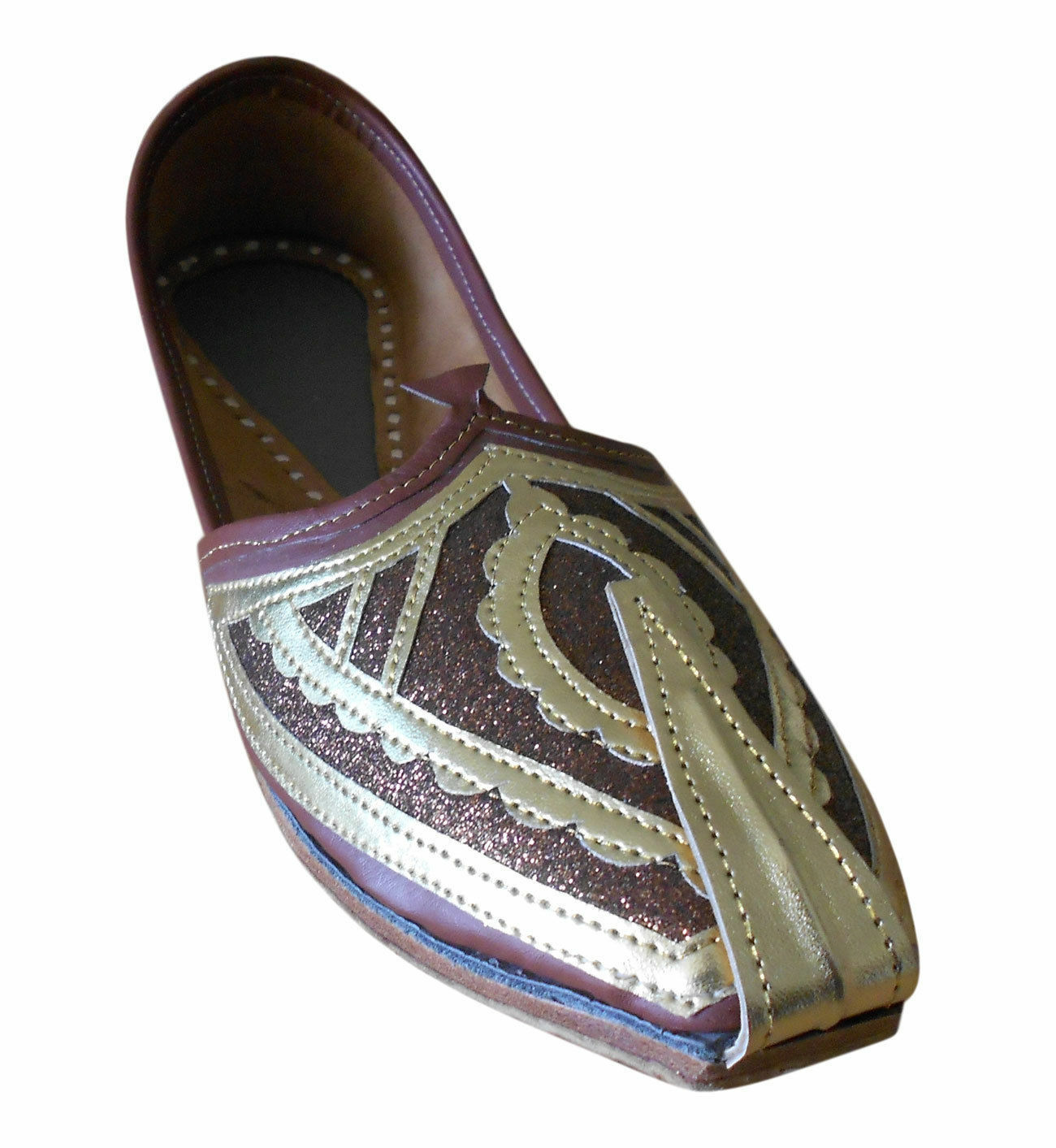 Men shoes Traditional Brown Indian Mojari Loafers Flat Khussa Jutti US 7-10