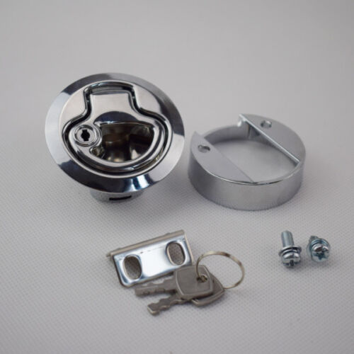 1PC Flush Pull Hatch Latch Lock PA-6 Insert with Keys for Boat Marine Wnderful