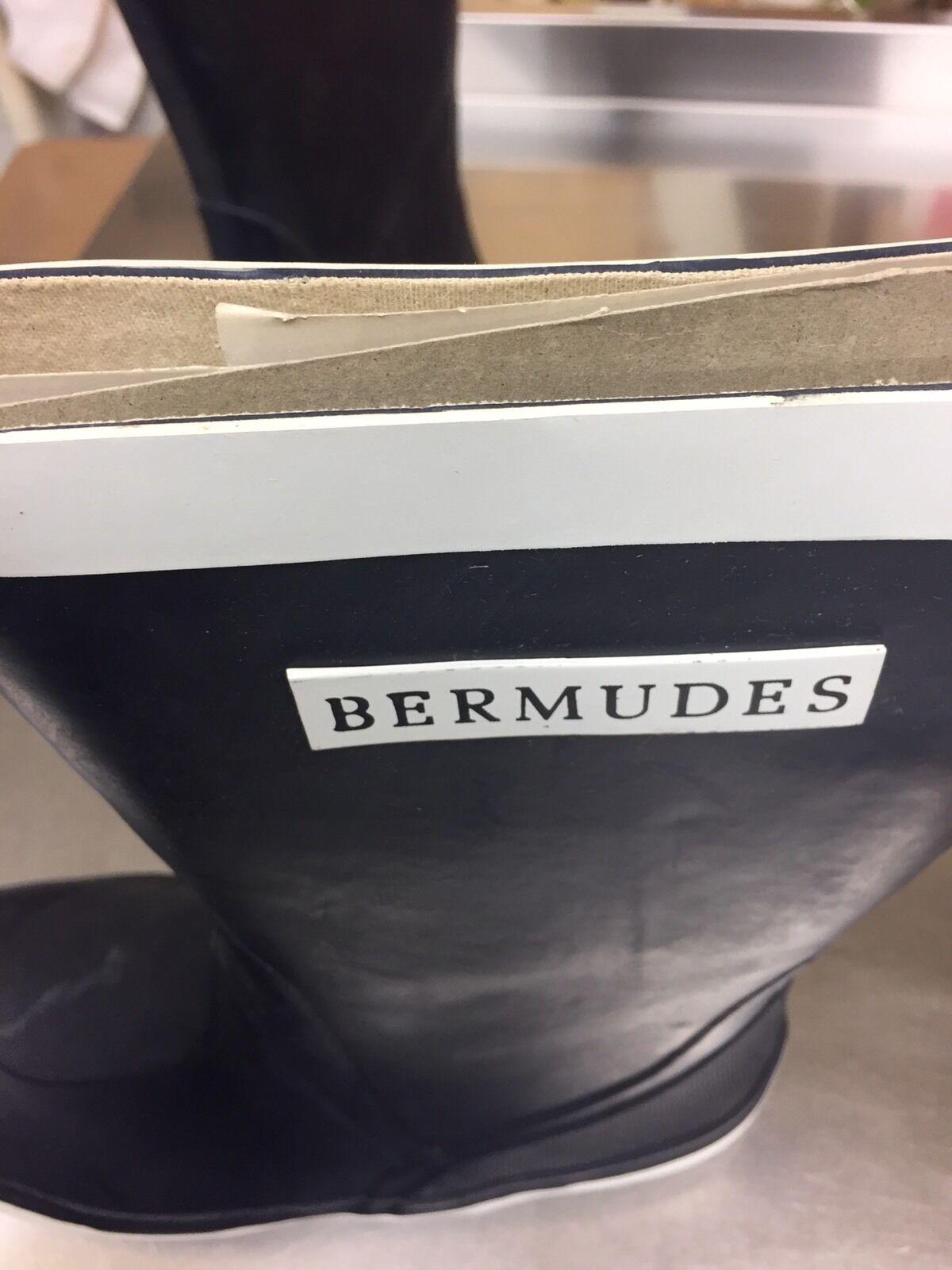 BERMUDES BERMUDES BERMUDES Segeln Seestiefel Gummistiefel Marine  weiss Gr. 39 e6ff97