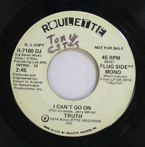 Hear-Funk-Promo-45-Truth-I-Can-039-T-Go-On-Same-On-Roulette-Promo