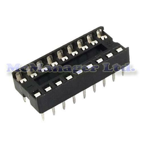 5x 18 Pin RoHS PCB IC Socket DIL//DIP 18 0.3/""