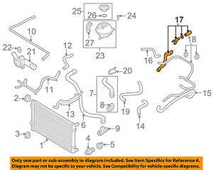 VW VOLKSWAGEN OEM 02-06 Golf 2.0L-L4 Radiator-Hose ...