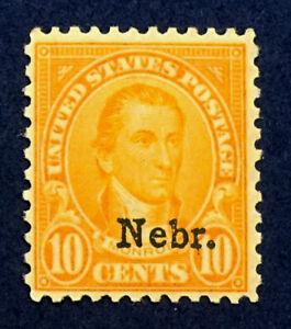 Scott US #679 - 1929  Monroe, 10 Cents; MNH, OG; Free Shipping; CV=$180