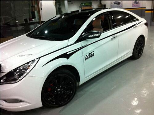 A Pair Vinyl Auto Waist Line Car Sticker Rally Racing Decal For Hyundai Sonata