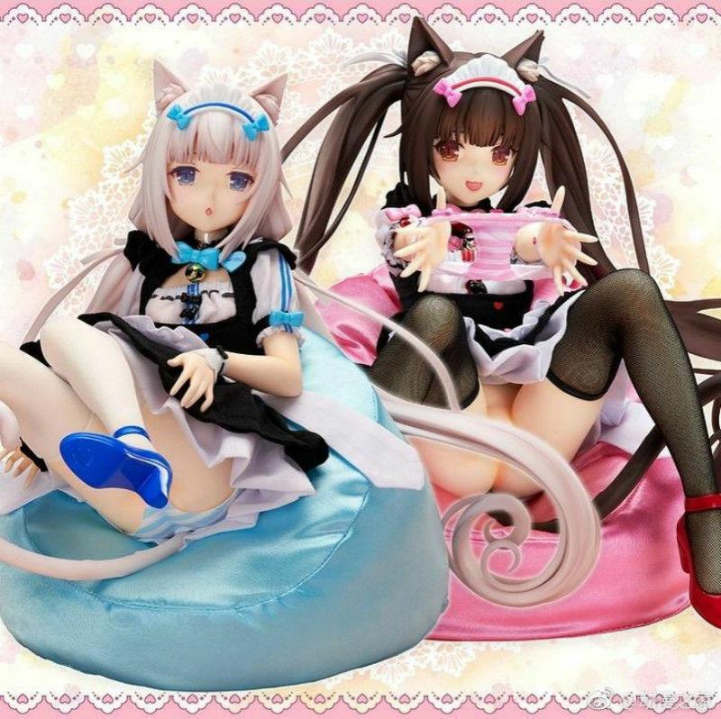 2pcs Sexy Girl Anime NEKOPARA Vanilla & Chocolat 1 4 Scale Figure New NoBox 23cm
