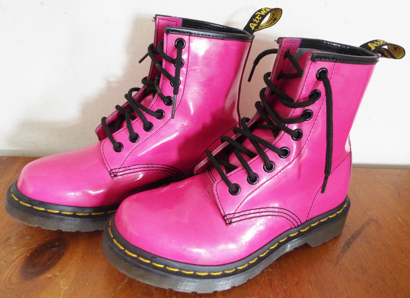 Dr Martens Stiefel Pink UK Größe 3 Girls/Damenschuhe 36 L EU / 5 US L 36 - 1460W Air Wair 4f9360