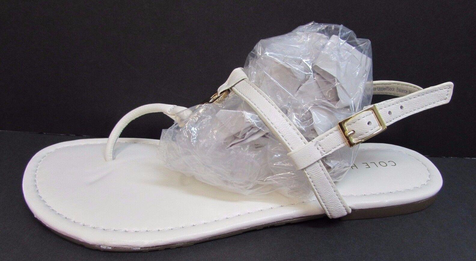 Cole Haan Größe 7.5 WEISS Leder Sandales NEU Damenschuhe Schuhes