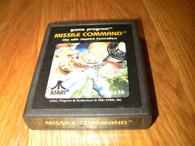 Missile Command (Atari 2600, 1981) Video Game Cartridge Only Untested