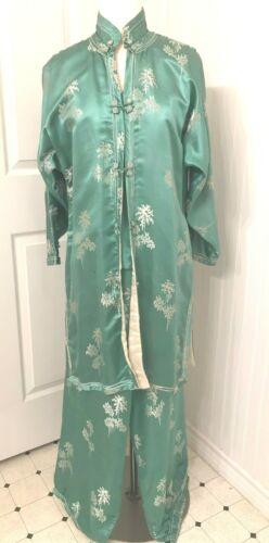 Vintage 1940s Chinese silk pajama set 3 piece