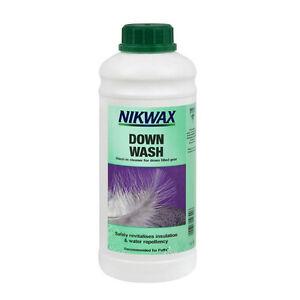 Details zu Nikwax Down Wash Daunen Waschmittel für Daunenjacke & Daunenschlafsack 1 L