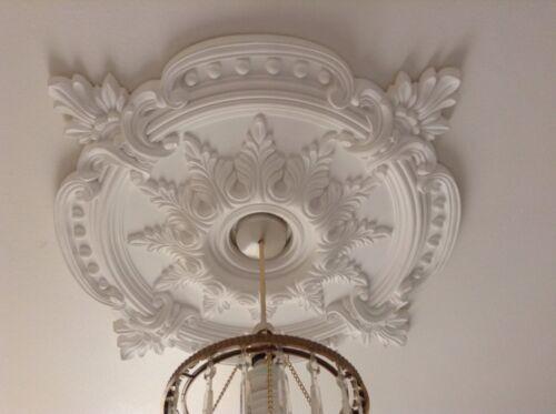 Grand Beau orné blanc Plafond rose Décor Maison Victorien Médaillon 72c CR7