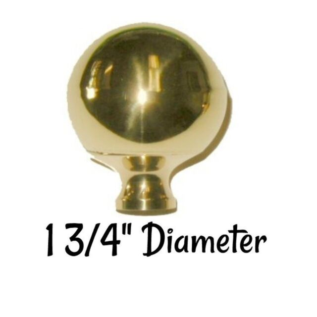 "LARGE 2/"" BRIGHT BRASS bed ball finial post cannon frame rail antique decoration"