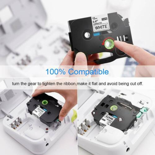 """TZe-231 TZ 12mm Laminated Label Tape Compatible for Brother P-Touch PT-D210 1//2/"""""""