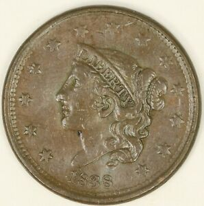 1838-Coronet-Head-Large-Cent-Choice-XF-Details-RAW3546-BH