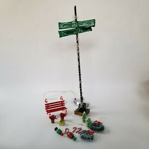 Details About Dollhouse Outdoor Christmas Decorations Candy Cane Bench Wreaths Nutcrackers