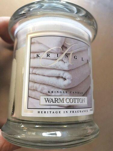 Kringle M natürliche Duftkerze WARM COTTON ohne Konservierungstoff im Glas