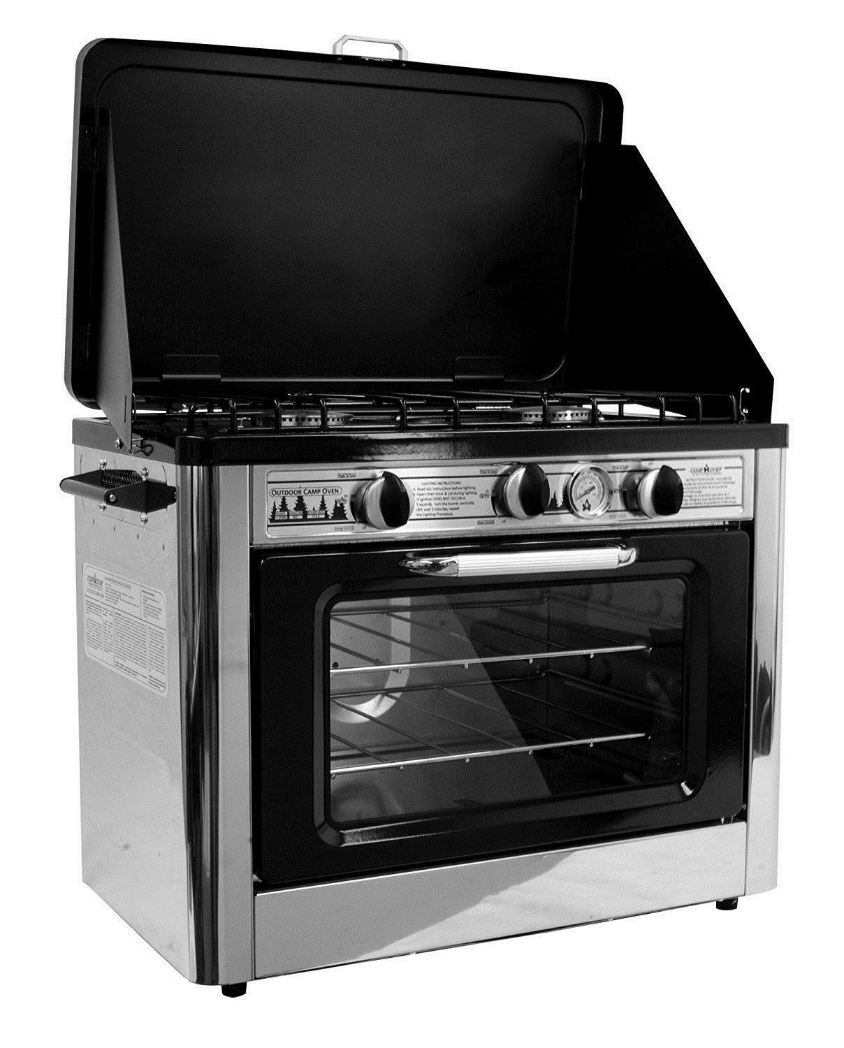 Camp Chef Camping Outdoor Oven Burner with 2 Burner Oven Camping Stove 4e366b