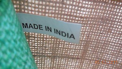 Vintage NEU schöne Jute Tasche Sack Leinen beige grün Made in India