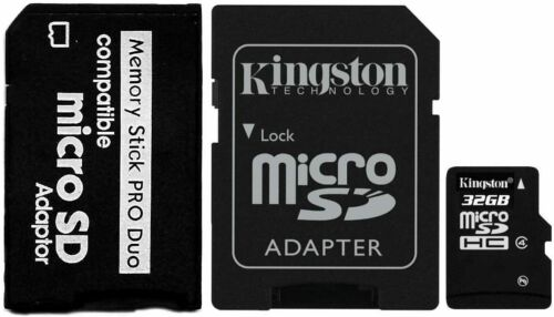 32GB Memory Card with MS PRO DUO Adapter For Sony Digital Camera Video Games