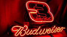 Budweiser Nascar #3 Race Car Beer Bar Club Pub Store Display Neon Light Sign