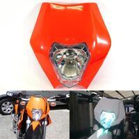Honda Cr Crf Xr 125 150 200 250 450 600 650 Orange Enduro Headlight Fairing