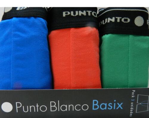 Pack de 3 Boxer trunks cerrados PUNTO BLANCO Basix  algodón 93/% elastano 7/%