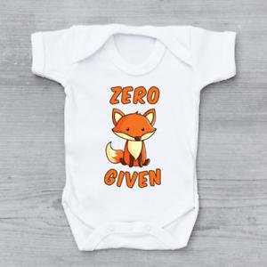 Zero-Fox-Given-Rude-Funny-Baby-Grow-Bodysuit-Vest-Unisex-Gift