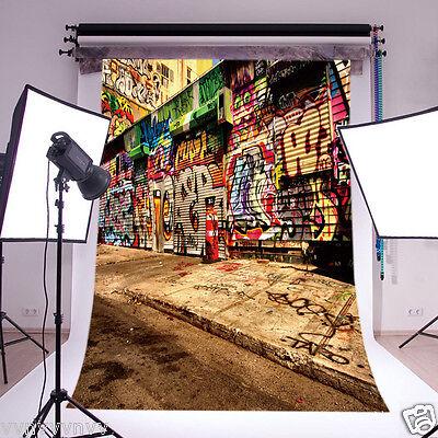 Graffiti Vinyl Customized Backdrop Photography Props Photo Background 5x7FT GY91