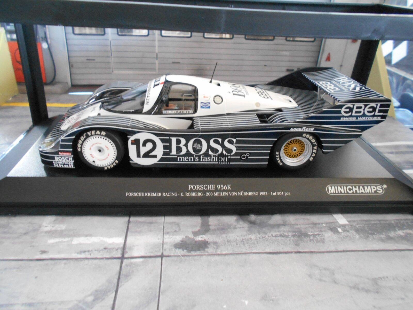 Porsche 956 K Taille C Norisring 1983 1983 1983  12 Rosberg Boss spécifiant Kremer MINICHAMPS 1 18 4c8ec2