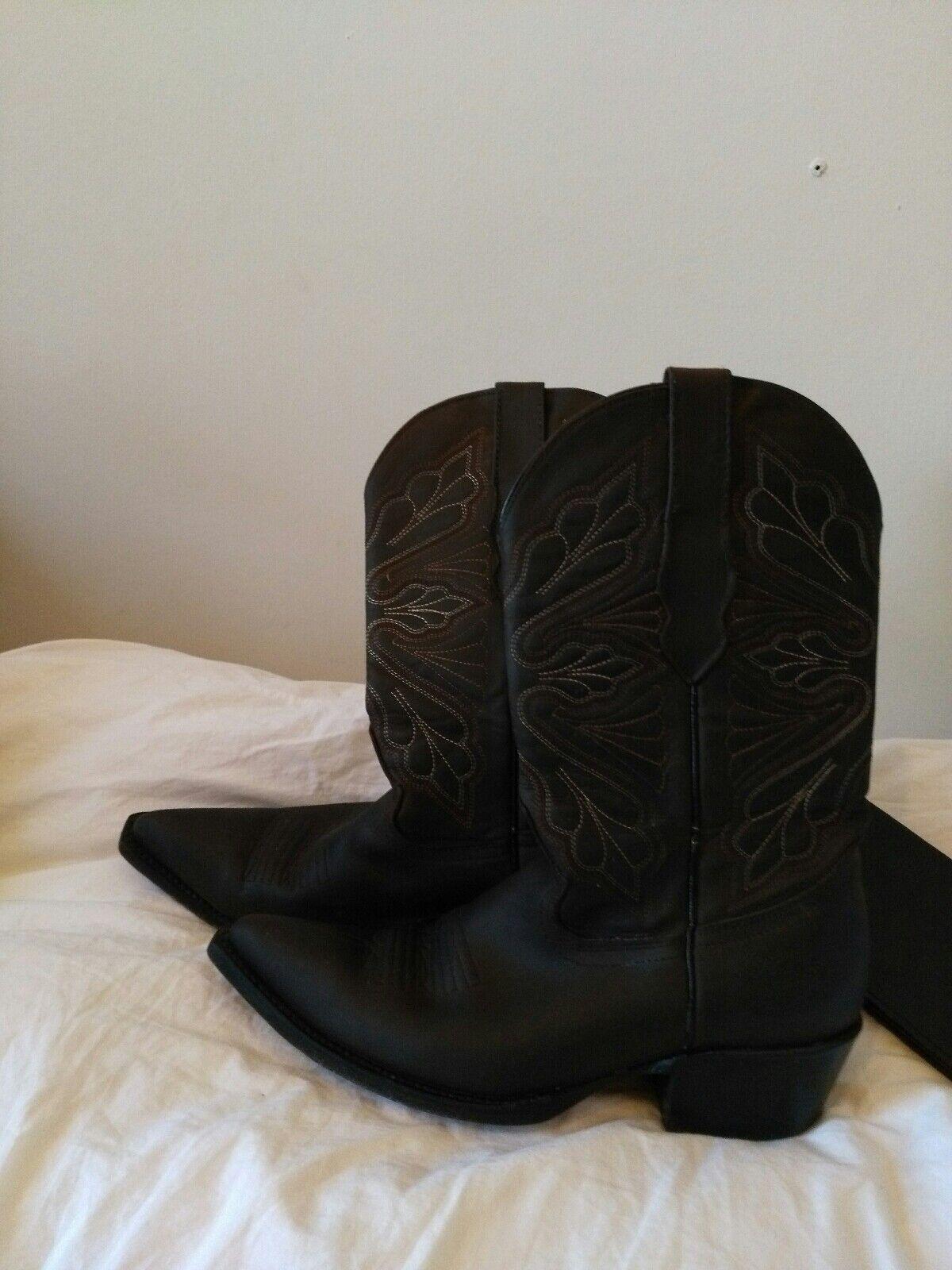 GRINDER GRINDER GRINDER cowboy boots, UK 6, brown leather, used 22a150