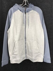 ADIDAS-Men-039-s-Light-Gray-Onix-CLIMAWARM-Training-Full-Zip-Hoodie-Sweatshirt