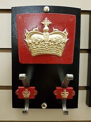 EDWARDS CROWN RED TELEPHONE BOX K6 HAT HOOK USING THE ST COAT KIOSK