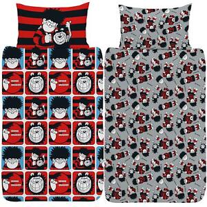 Beano-Dennis-amp-Gnasher-Duvet-Cover-Single-Double-King-Reversible-Bedding