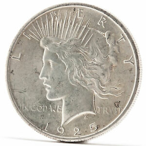 1925 One Dollar Silber Münze Usa Peace Liberty Silver Coin In God We