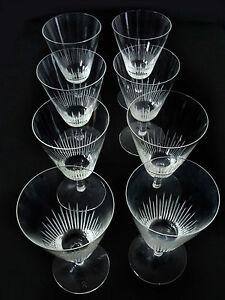 8 rosenthal weingl ser geschliffenes glas sehr selten ca. Black Bedroom Furniture Sets. Home Design Ideas
