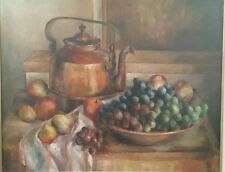 """COLORFUL STILL LIFE OIL PAINTING BY LISTED NEW ENGLAND ARTIST """"IRENE BREEN""""!"""